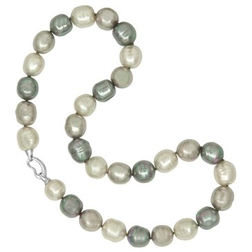 Majorica 14mm Simulated Baroque Multi Pearl Strand Necklace With Bean Clasp