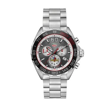Tag Heuer Men's Formula 1 Chronograph Watch CAZ101D.BA0842, Black/ Fine Brushed Steel 43mm