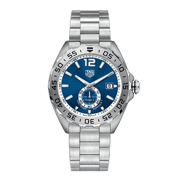 Tag Heuer Men's Formula 1 Calibre 6 Automatic Blue/Fine Brushed Steel Chronograph Watch, 43mm