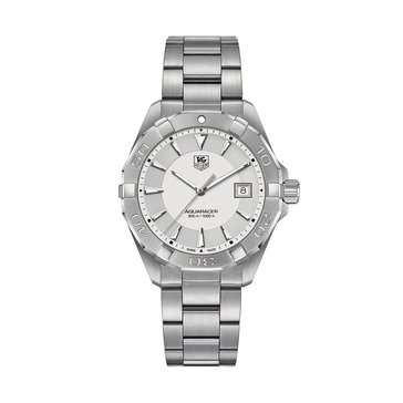 Tag Heuer Men's Aquaracer Watch WAY1111.BA0928, Anthracite/ Fine Brushed and Polished Stainless Steel 40.5mm