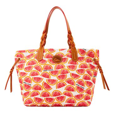 Dooney & Bourke Nylon Shopper Grapefruit White