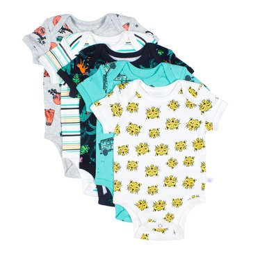 Rosie Pope Baby Boys' 5-Pack Bodysuit Set, Safari