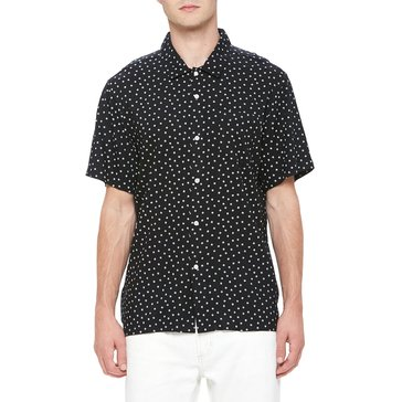 Obey Men's Bryson Short Sleeve Mini Rose AO Print Rayon Shirt
