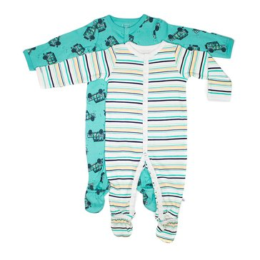 Rosie Pope Baby Boys' 2-Pack Coveralls, Safari