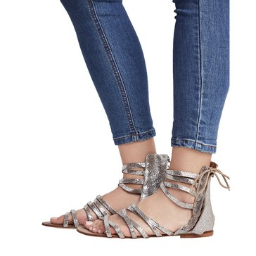 Free People Juliette Women's Wrap Sandal Silver