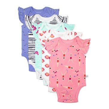 Rosie Pope Baby Girls' 5-Pack Bodysuit, Summer Fun