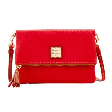 Dooney & Bourke Pebble Foldover Zip Crossbody Red