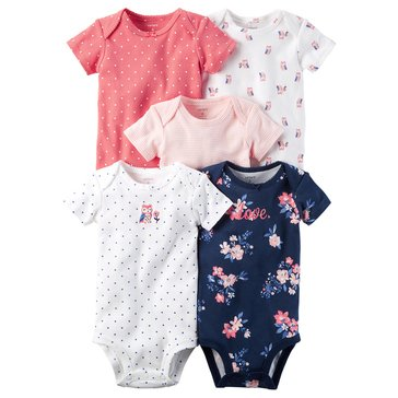 Carter's Baby Girls' 5-Pack Bodysuit, Floral