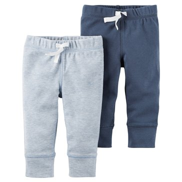 Carter's Baby Boys' 2-Pack Pants Set, Navy/Blue
