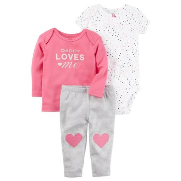 Carter's Baby Girls' 3-Piece Heart Turn Me Around Set