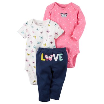 Carter's Baby Girls' 3-Piece Love Turn Me Around Set