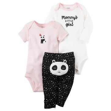 Carter's Baby Girls' 3-Piece Panda Turn Me Around Set