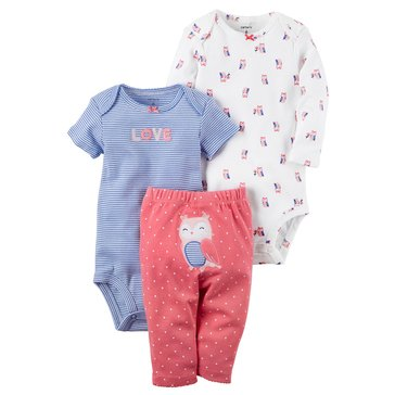 Carter's Baby Girls' 3-Piece Butterfly Turn Me Around Set
