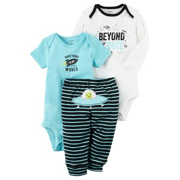 Carter's Baby Boys' 3-Piece Space Turn Me Around Set