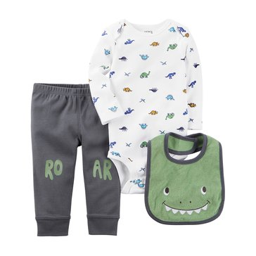 Carter's Baby Boys' 3-Piece Dino Turn Me Around Set