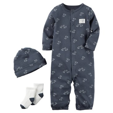 Carter's Baby Boys' 3-Piece Layette Set, Navy