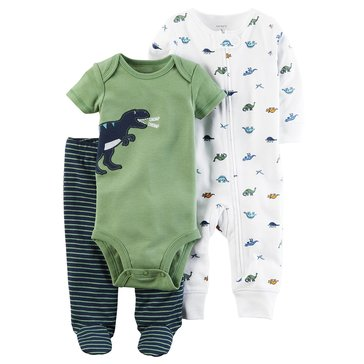 Carter's Baby Boys' 3-Piece Layette Set, Dino