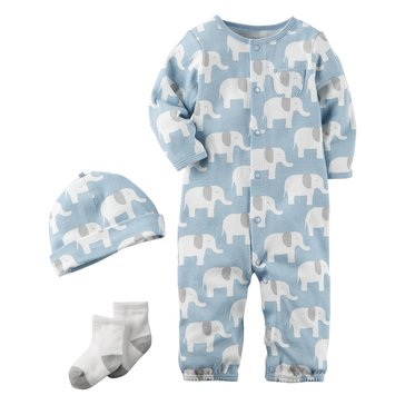 Carter's Baby Boys' 3-Piece Layette Set, Elephant