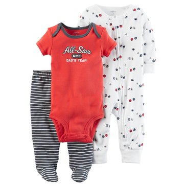 Carter's Baby Boys' 3-Piece Layette Set, Sport