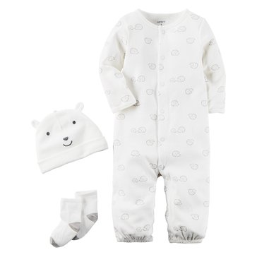 Carter's Newborn 3-Piece Layette Set, Hedgehog