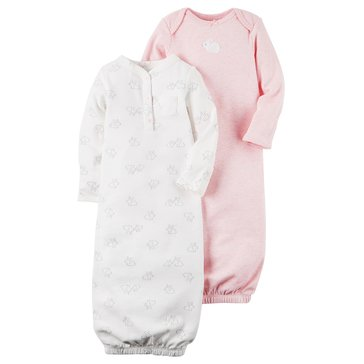 Carter's Baby Girls' 2-Pack Gown, Bunny