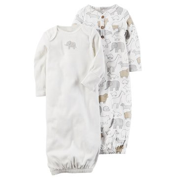 Carter's Newborn 2-Pack Gown, Elephant