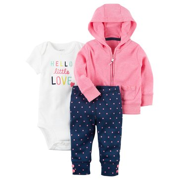 Carter's Baby Girls' 3-Piece Cardigan Set, Dot