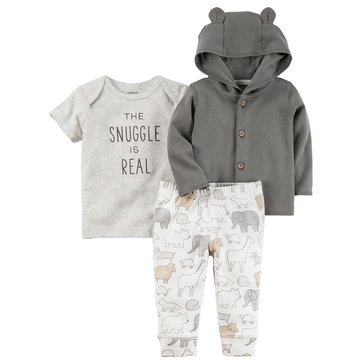 Carter's Newborn 3-Piece Cardigan Set, Snuggle