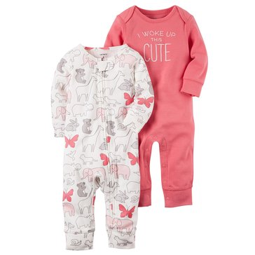 Carters' Baby Girls' 2-Pack Coverall Set
