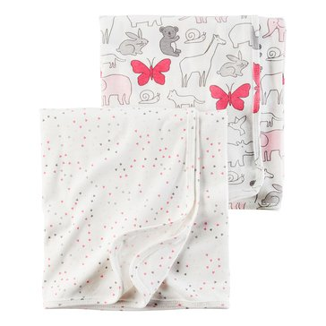 Carter's Baby Girls' 2-Pack Swaddle Set, Heart