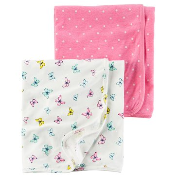 Carter's Baby Girls' 2-Pack Swaddle Set, Floral