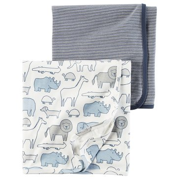 Carter's Baby Boys' 2-Pack Swaddle Set, Stripe
