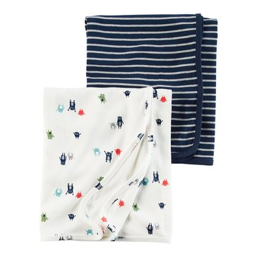 Carter's Baby Boys' 2-Pack Swaddle Set, Monster