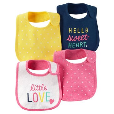 Carter's Baby Girls' 4-Pack Bib