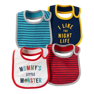 Carter's Baby Boys' 4-Pack Bib Set