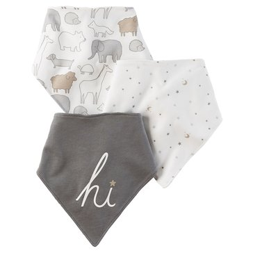 Carter's Newborn 3-Pack Bandana Bib Set