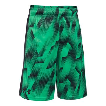 Under Armour Big Boys' Stunt Printed Shorts, Green