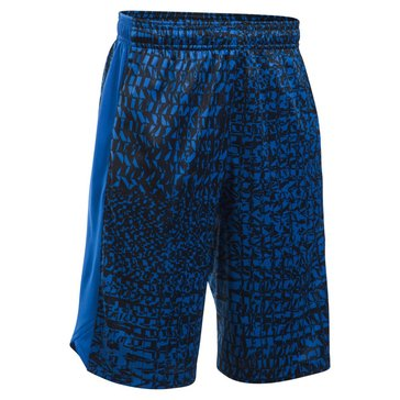 Under Armour Big Boys' Eliminator Printed Shorts, Blue
