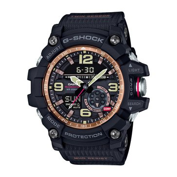Casio G-Shock Men's Master of G MudMaster Watch GG1000RG-1A, Rose Gold/ Black 55.3mm