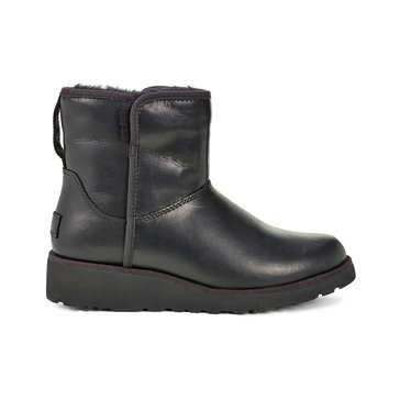 UGG Kristin Women's Leather Short Wedge Boot Black
