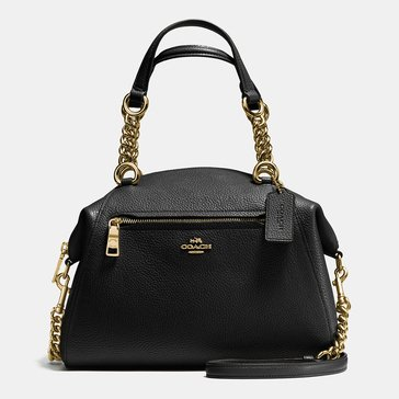 Coach Polished Pebble Prairie Chain Black