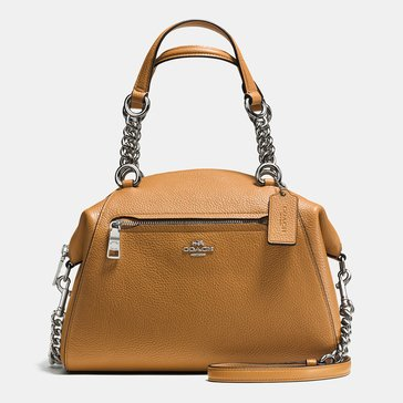 Coach Polished Pebble Prairie Chain Saddle
