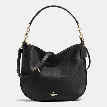Coach Pebble Chelsea 32 Hobo Black