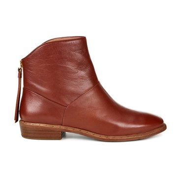 UGG Bruno Short Rear Zip Leather Boot Mid Brown
