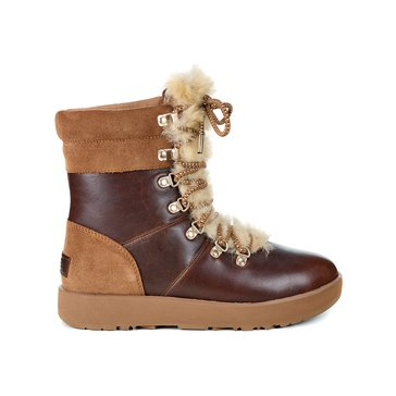 UGG VIki Waterproof Lace Up Boot Chestnut