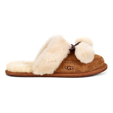 UGG Hafnir Pom Poms Slip On Chestnut