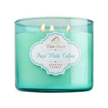 Bath & Body Works 3 Wick Candle - Pure White Cotton