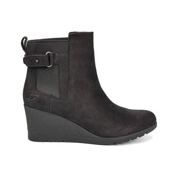 UGG Indra Short Wedge Slip On Boot Black