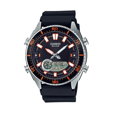 Casio Men's Ana-Digital Black Diver Watch, 44mm