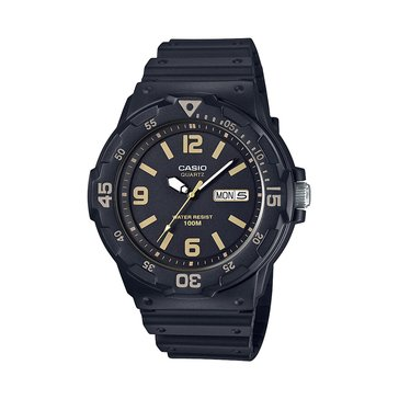 Casio Men's Diver Style Analog Watch MRW200H-1B3V, Black 47mm